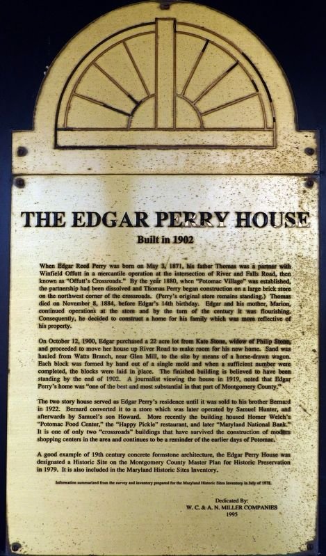 The Edgar Perry House Marker image. Click for full size.