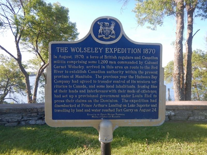 The Wolseley Expedition 1870 Marker image. Click for full size.