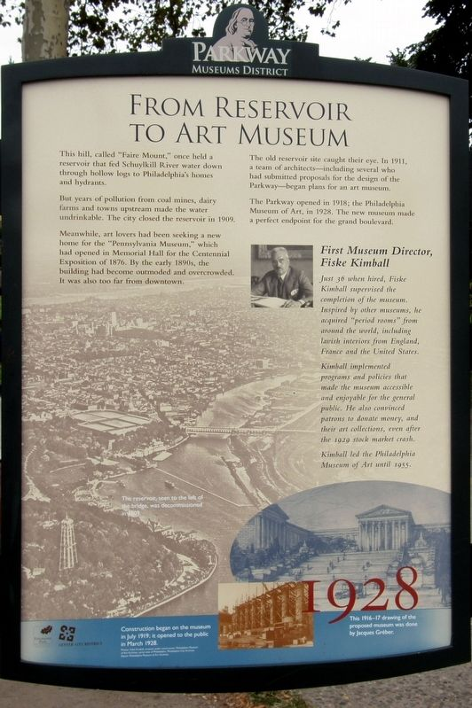 From Reservoir to Art Museum Marker image. Click for full size.