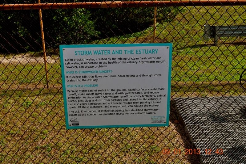 Storm Water and the Estuary Marker image. Click for full size.