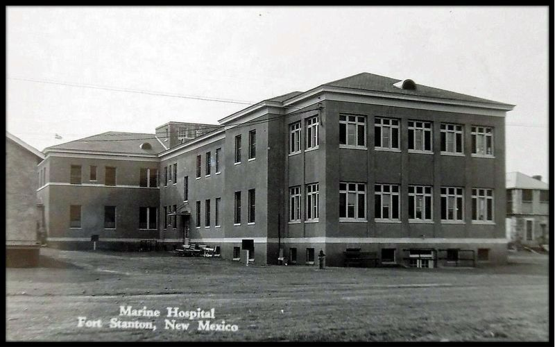 RPPC of the rear of the New Hospital. image. Click for full size.
