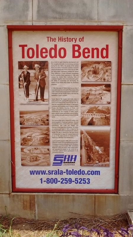 The History of Toledo Bend Marker image. Click for full size.