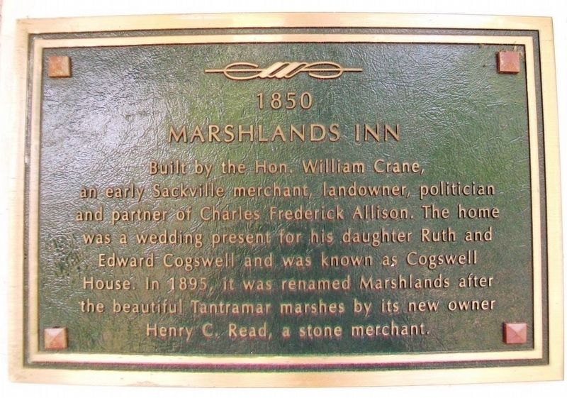 Marshlands Inn Marker image. Click for full size.