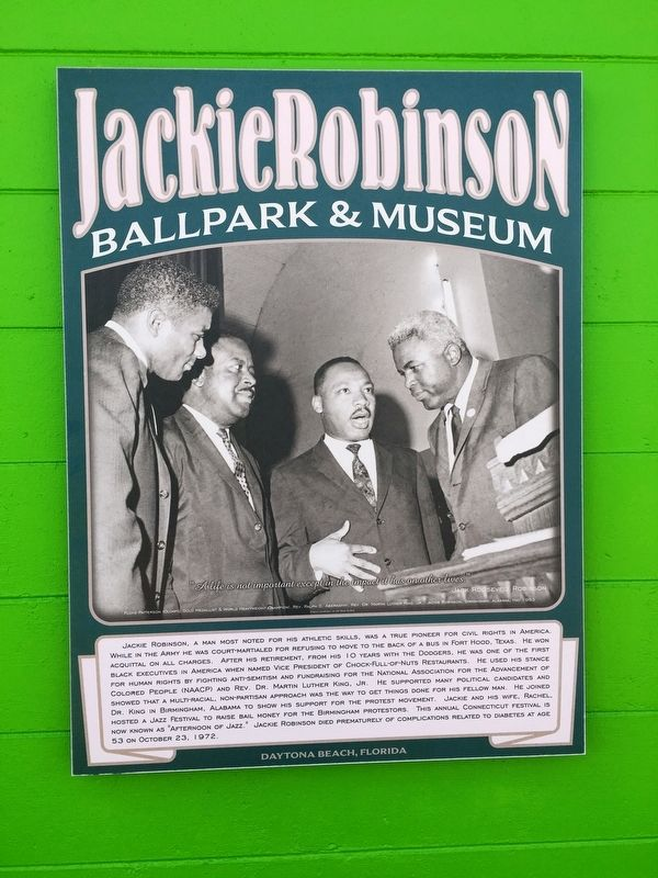 Jackie Robinson Civil Rights Pioneer Marker image. Click for full size.