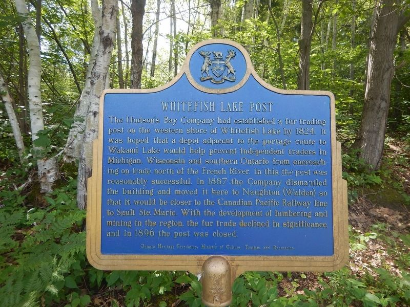 Whitefish Lake Post Marker image. Click for full size.