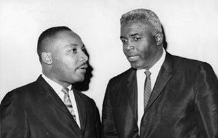 Jackie Robinson And Martin Luther King, Jr image. Click for full size.