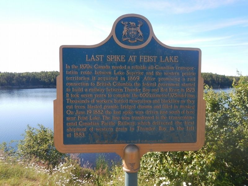 Last Spike at Feist Lake Marker image. Click for full size.