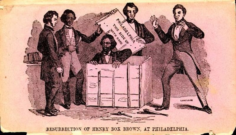 """Resurrection of Henry Box Brown, at Philadelphia"" image. Click for full size."