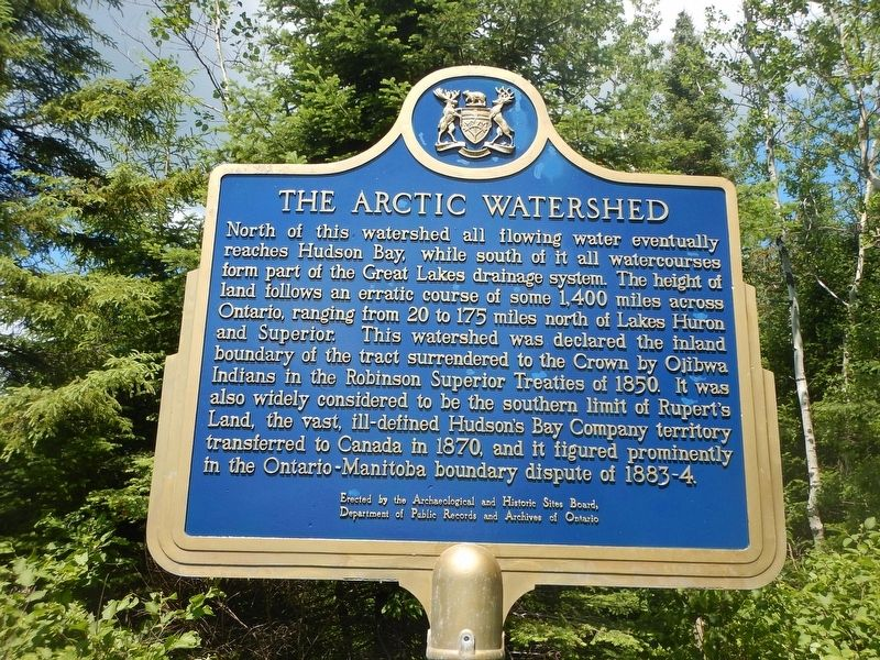 The Arctic Watershed Marker image. Click for full size.