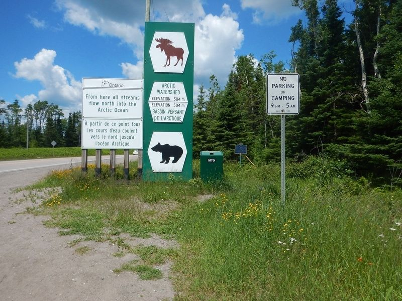 Wideview of The Arctic Watershed Marker image. Click for full size.