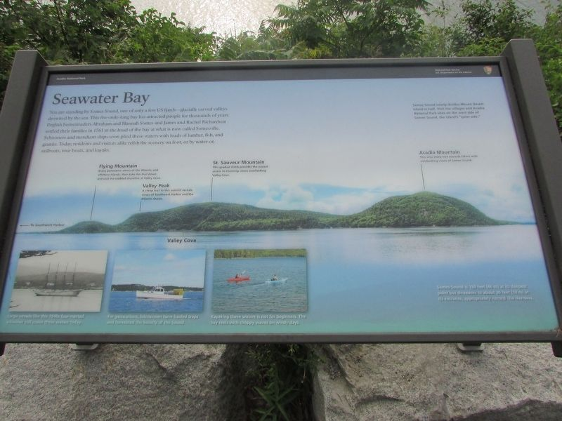 Seawater Bay Marker image. Click for full size.