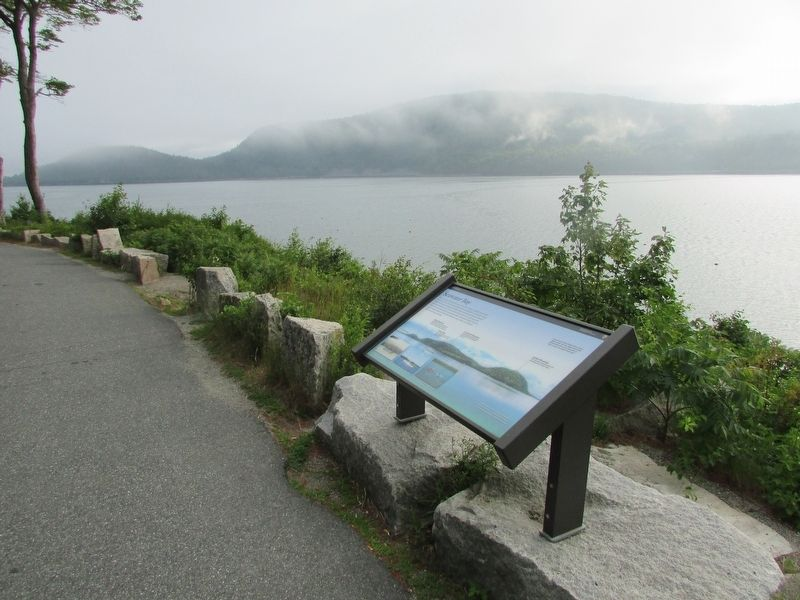 Marker on Somes Sound image. Click for full size.