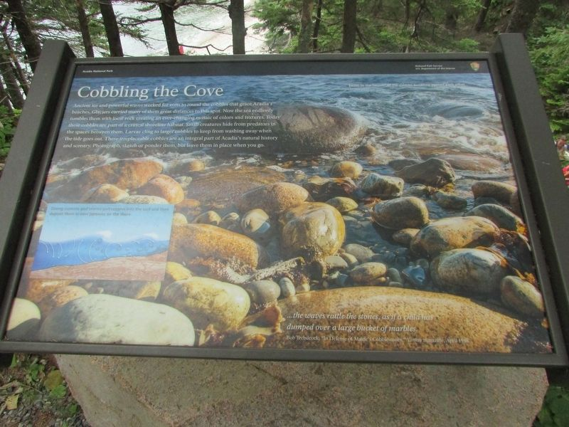 Cobbling the Cove Marker image. Click for full size.