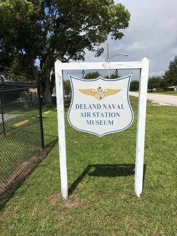 DeLand Naval Air Station Museum Sign image. Click for full size.