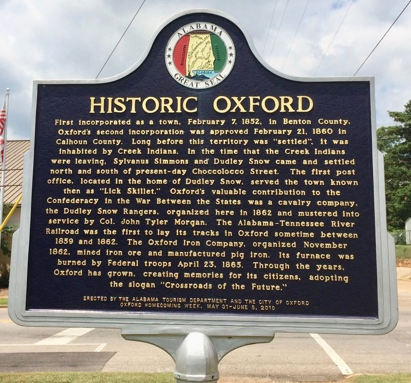 Historic Oxford Marker image. Click for full size.