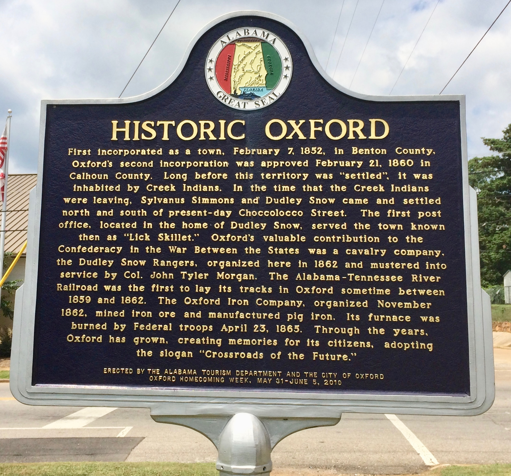 Historic Oxford Marker