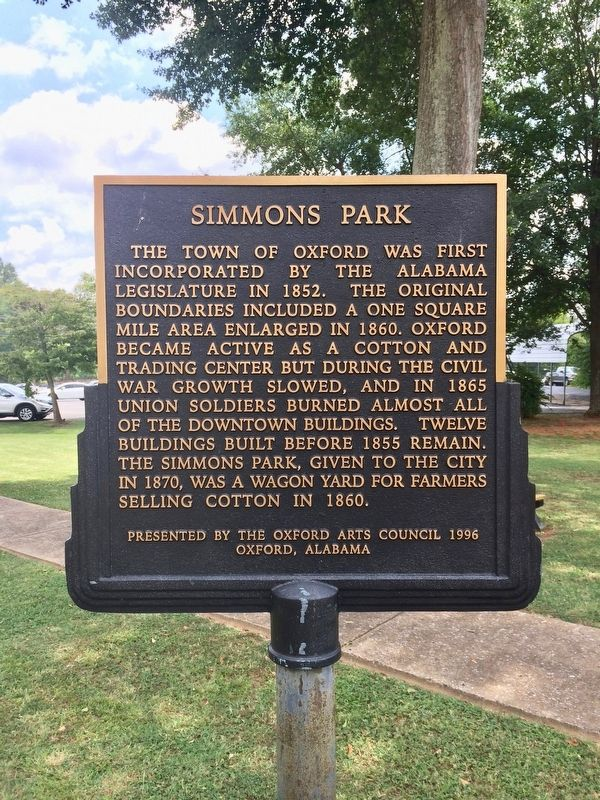 Simmons Park Marker image. Click for full size.