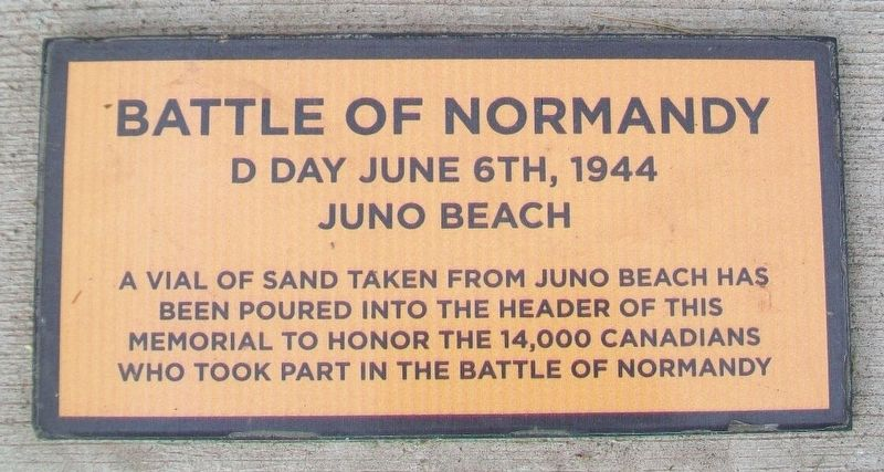 Battle of Normandy Marker image. Click for full size.