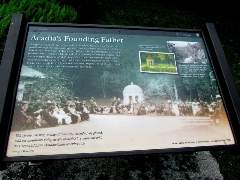 Acadia's Founding Father Marker image. Click for full size.