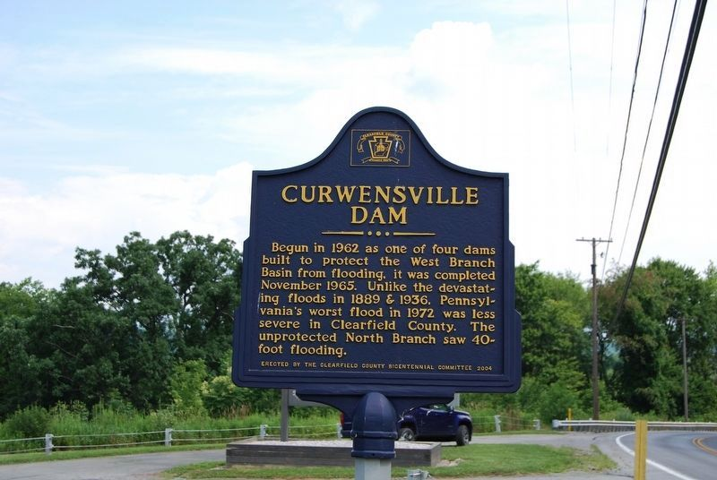 Curwensville Dam Marker image. Click for full size.