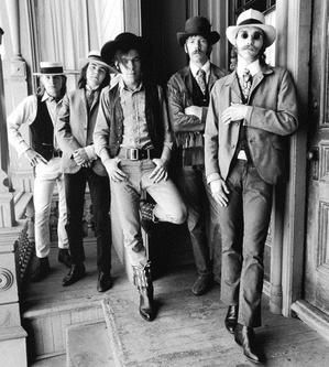 The Charlatans in front of the Red Dog Saloon in Virginia City image. Click for full size.