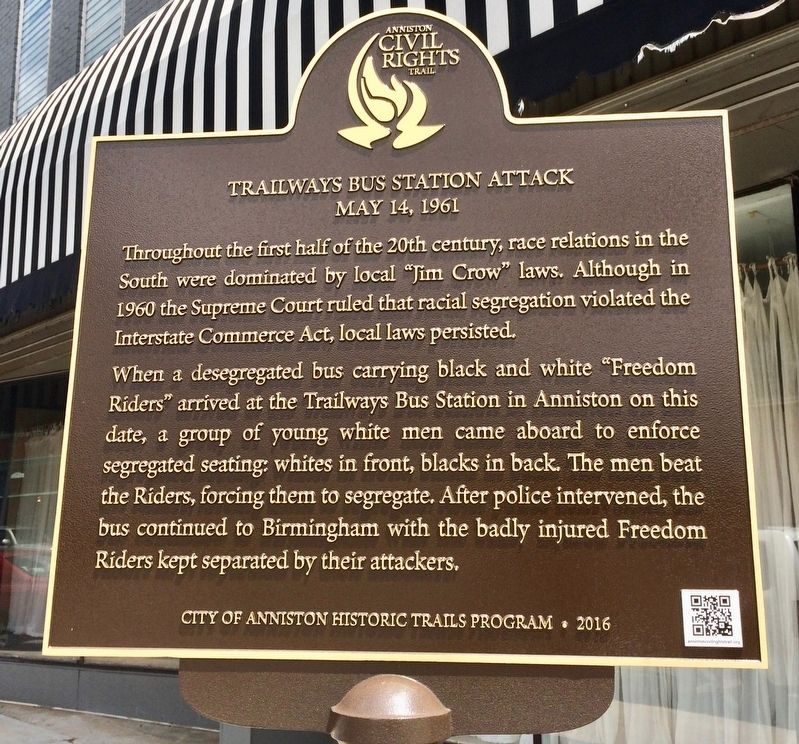 Trailways Bus Station Attack Marker image. Click for full size.
