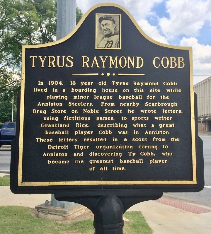 Tyrus Raymond Cobb Marker image. Click for full size.