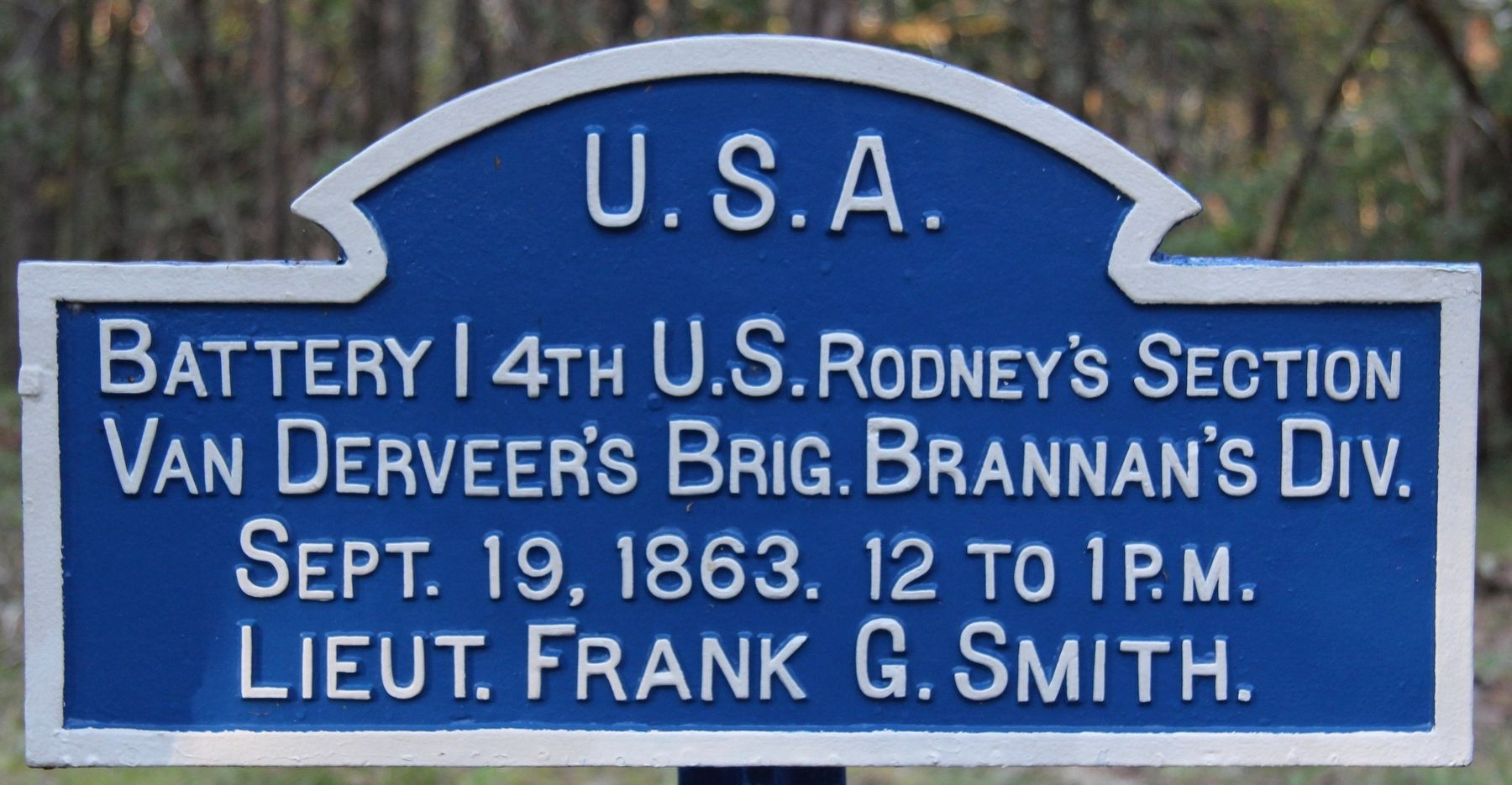 Battery I, 4th U.S. Artillery Marker image. Click for full size.