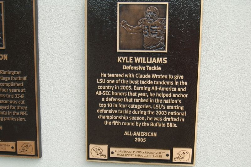 Kyle Williams Marker image. Click for full size.