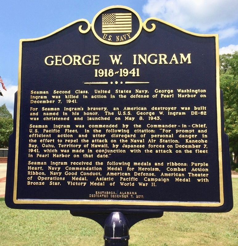 George W. Ingram Marker image. Click for full size.