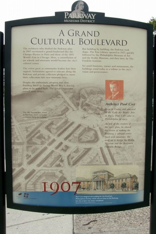 A Grand Cultural Boulevard Marker image. Click for full size.