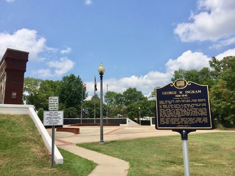 George W. Ingram Marker at Centennial Memorial Park. image. Click for full size.