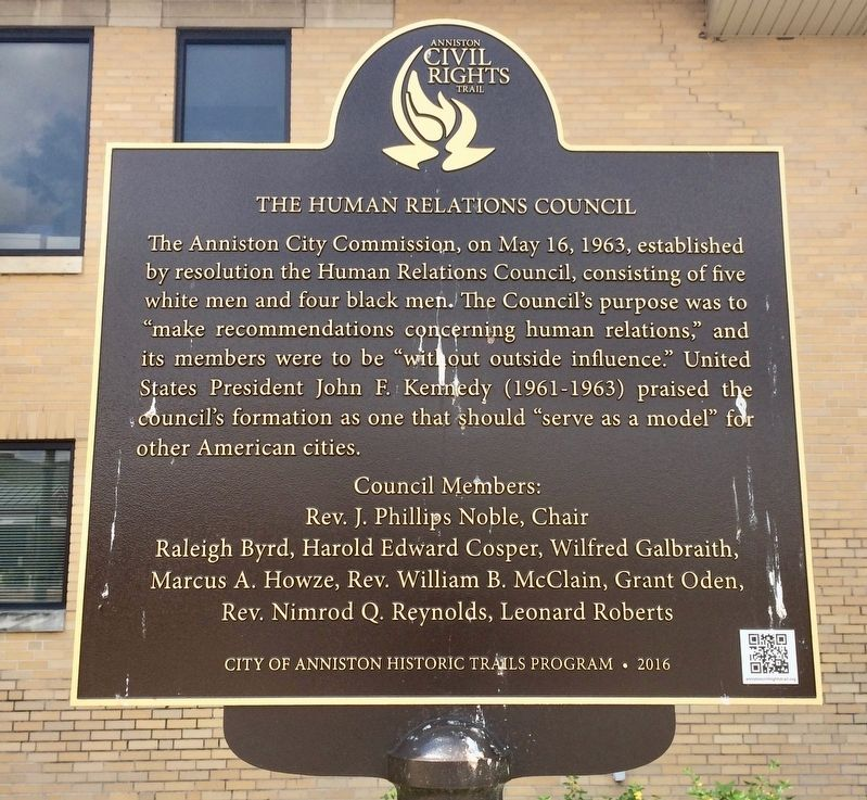 The Human Relations Council Marker image. Click for full size.