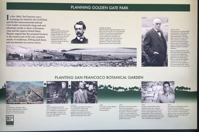 Planning Golden Gate Park Marker image. Click for full size.