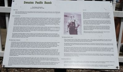 Swanton Pacific Ranch Marker image. Click for full size.