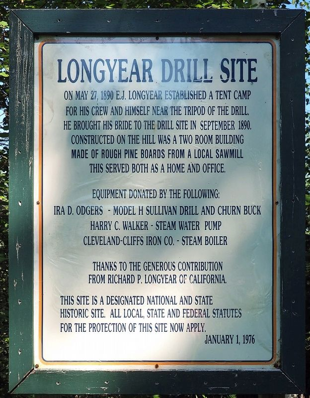 Longyear Drill Site marker image. Click for full size.