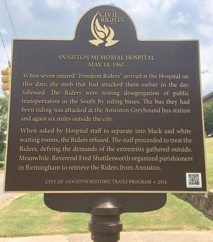 Anniston Memorial Hospital Marker image. Click for full size.