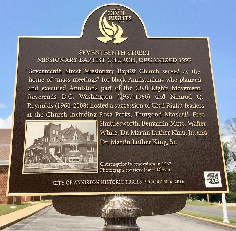 Seventeenth Street Missionary Baptist Church, Organized 1887 Marker image. Click for full size.