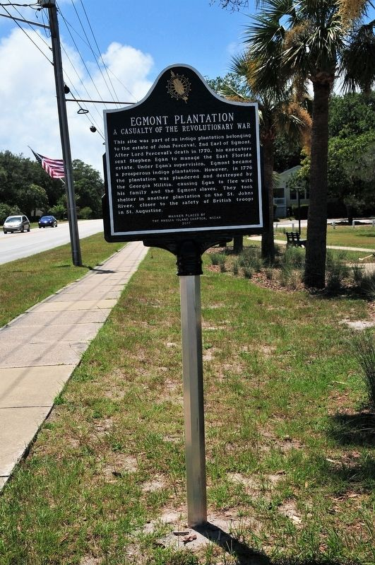 Egmont Plantation Marker image. Click for full size.