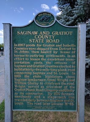 Saginaw and Gratiot County State Road (Side 1) image. Click for full size.