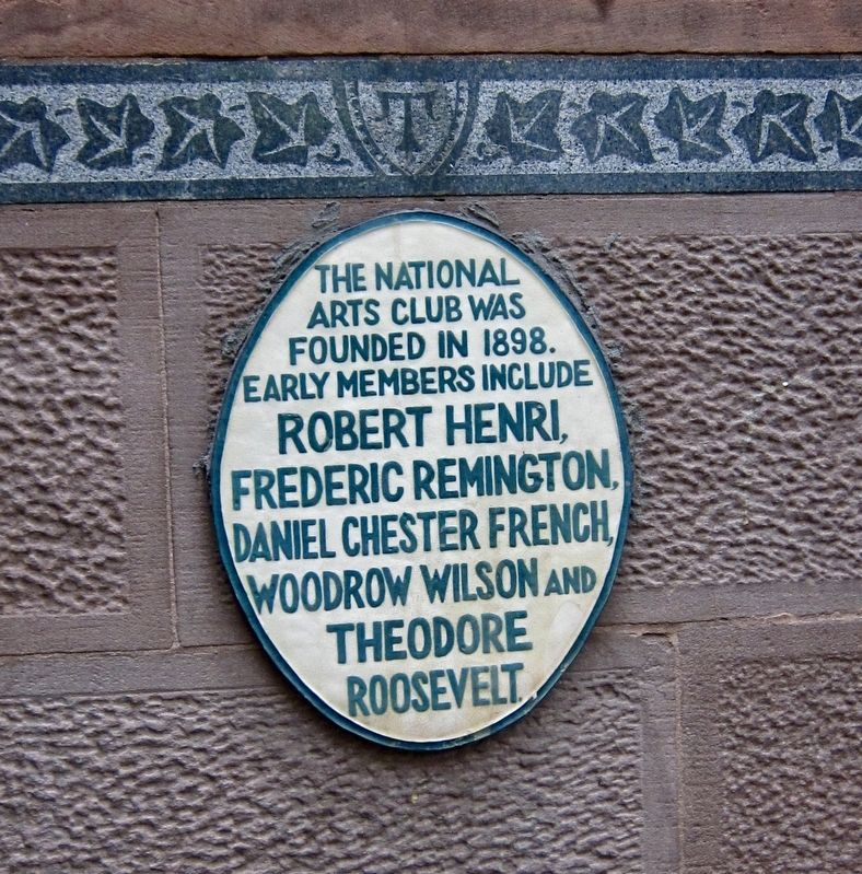 National Arts Club Marker image. Click for full size.