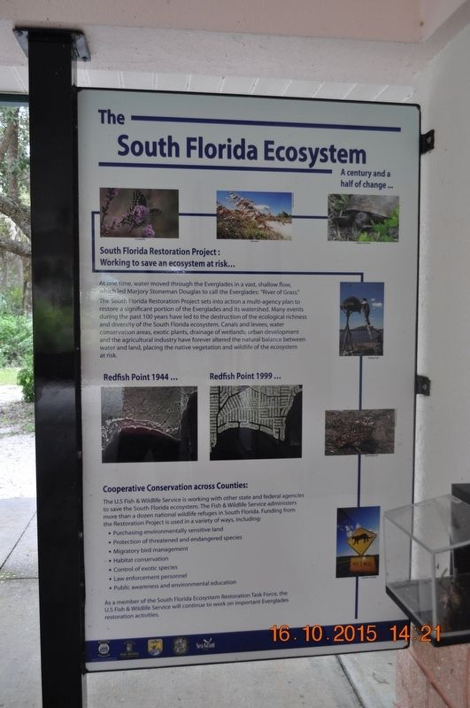 The South Florida Ecosystem Marker image. Click for full size.