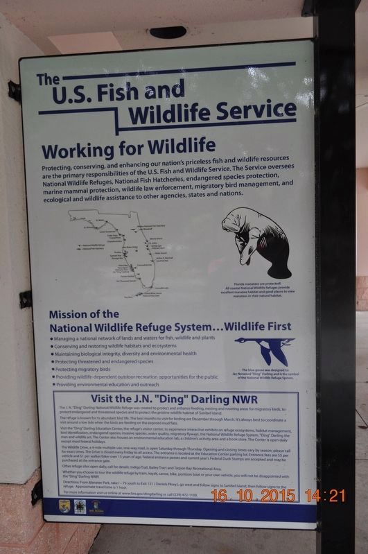 The U.S. Fish and Wildlife Service Working for Wildlife Marker image. Click for full size.