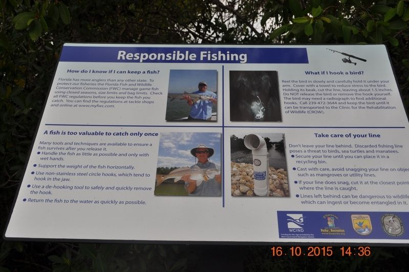 Responsible Fishing Marker image. Click for full size.