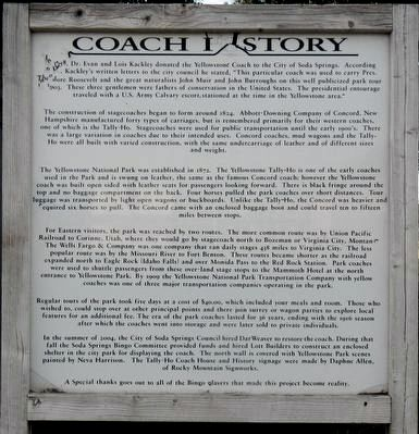 Coach History Marker image. Click for full size.