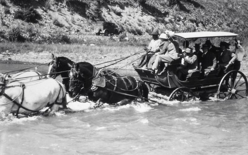 Tally-Ho Coach in Yellowstone National Park image. Click for full size.