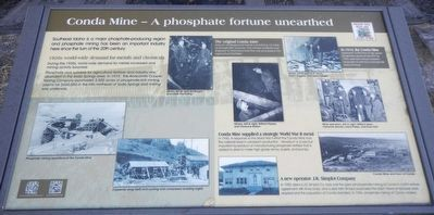 Conda Mine - A phosphate fortune unearthed Marker image. Click for full size.