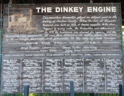 The Dinkey Engine Marker image. Click for full size.