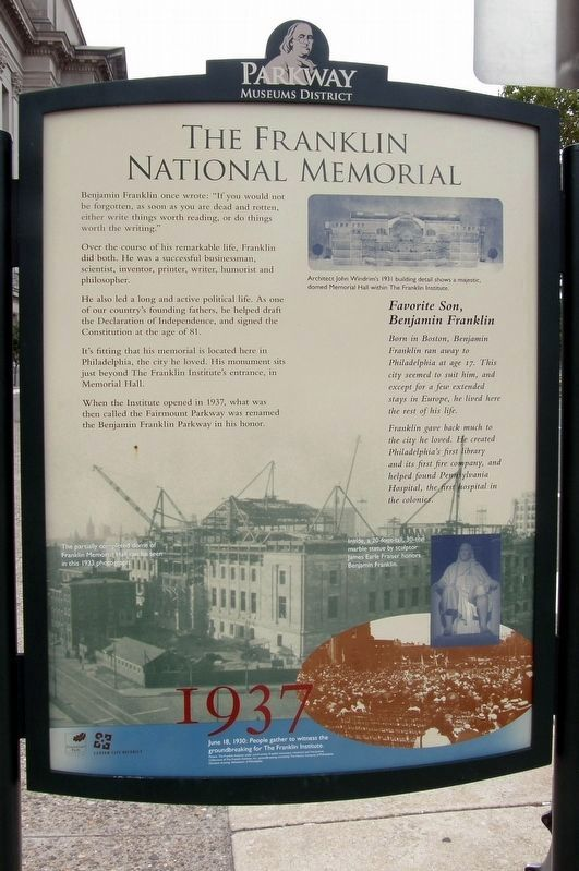 The Franklin National Memorial Marker image. Click for full size.