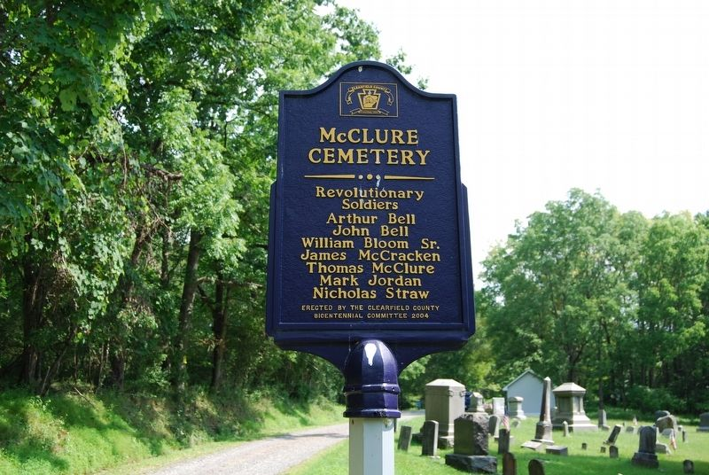 McClure Cemetery Marker image. Click for full size.